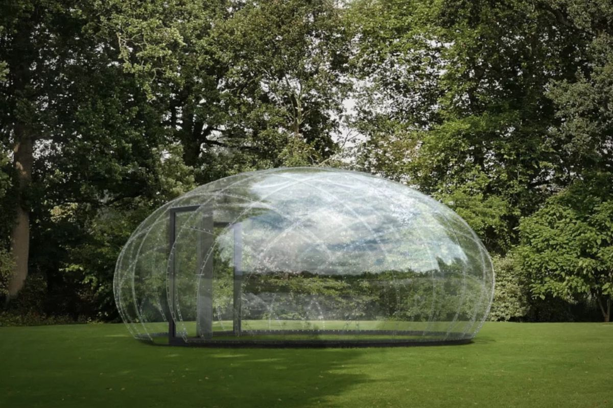 Geodesic Dome Made Modern With Water Droplet Pavilion Curbed