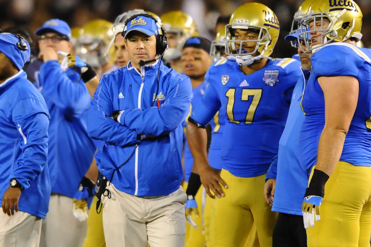 """""""[T]here is not one of them [UCLA players] that thinks nine wins was a great year"""" - Jim Mora."""