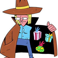 Shady Character, <em>Shadius Tradius</em>: This shady fellow will select one identified present that you have, and offer to swap it for another random present. Swapping is free.
