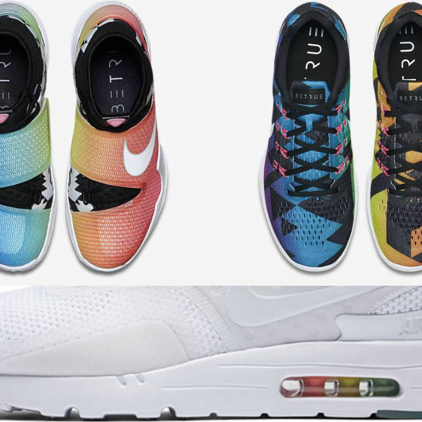 Nike releases 2016 BeTrue line this week featuring rainbows, triangles and  Air Max Zero - Outsports