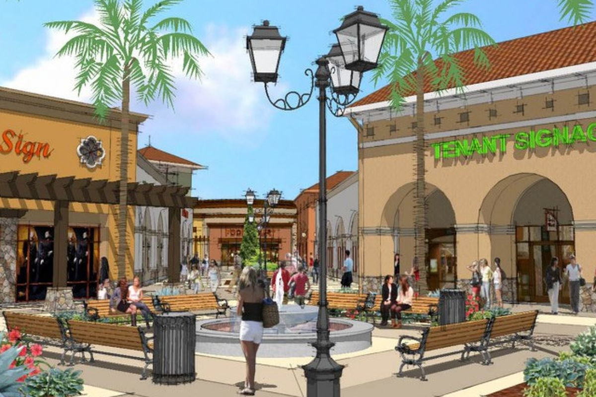"""Tejon Outlets rendering via <a href=""""http://www.rockefellergroup.com/properties/the-outlets-at-tejon-ranch/"""">Rockefeller Group</a>"""