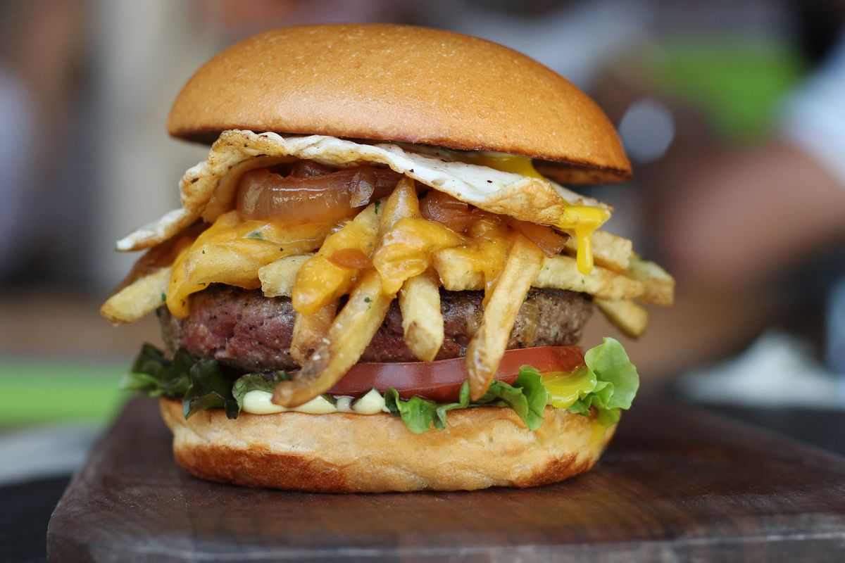 Burger and fries on a bun? Done.