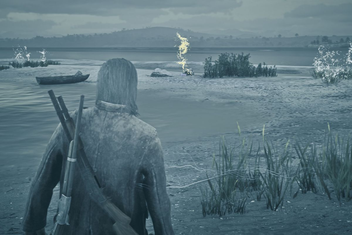 Red Dead Online treasure map chest location