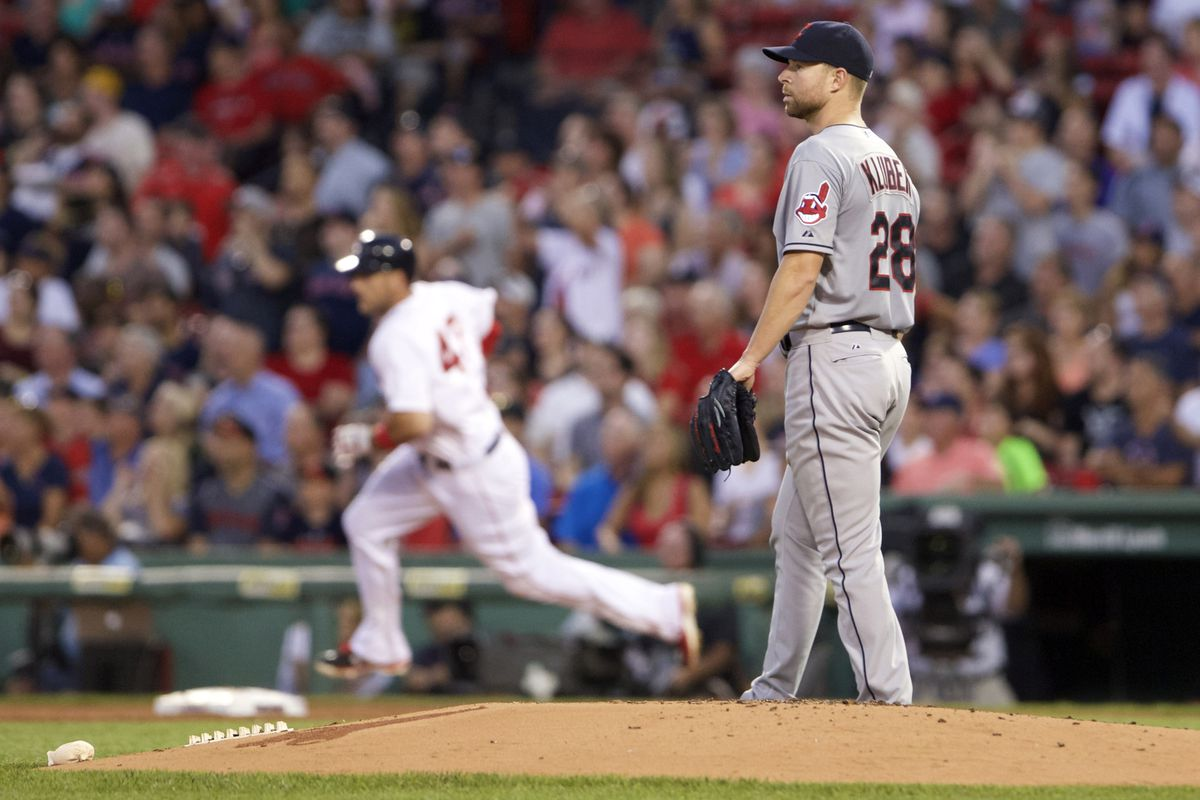 One of four home runs Corey Kluber gave up tonight