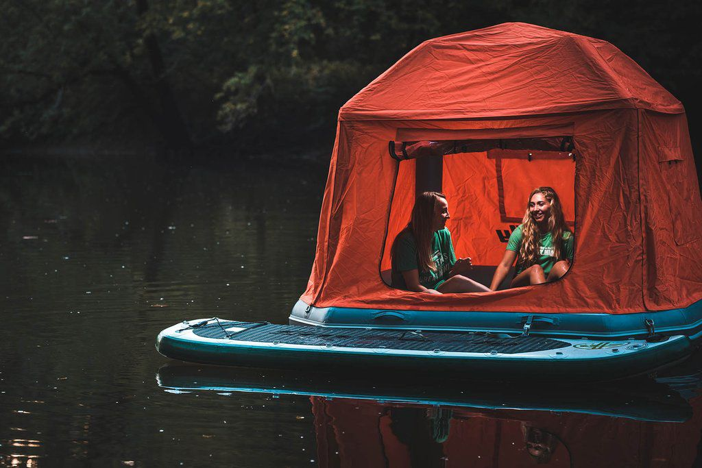 Floating tent lets you camp on water   Curbed