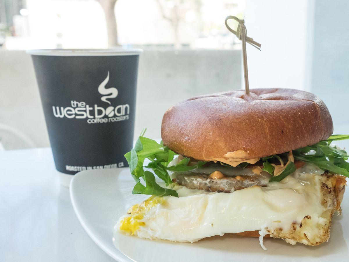 Breakfast Sandwich #1 at The WestBean Coffee Roasters in Banker's Hill