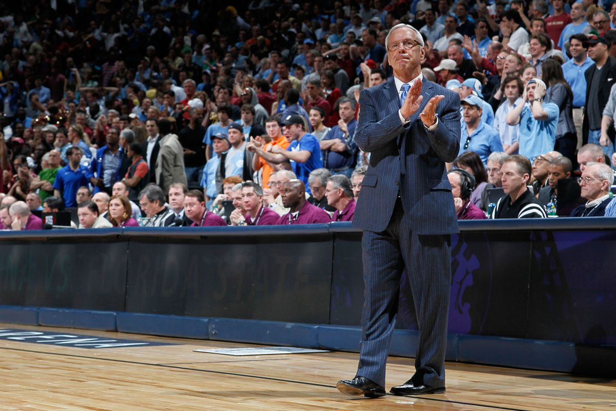 Roy Williams does not approve of me writing this much about selecting my own NCAA bracket.
