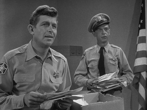 Andy Griffith and Don Knotts in the picture from The Andy Griffith Show