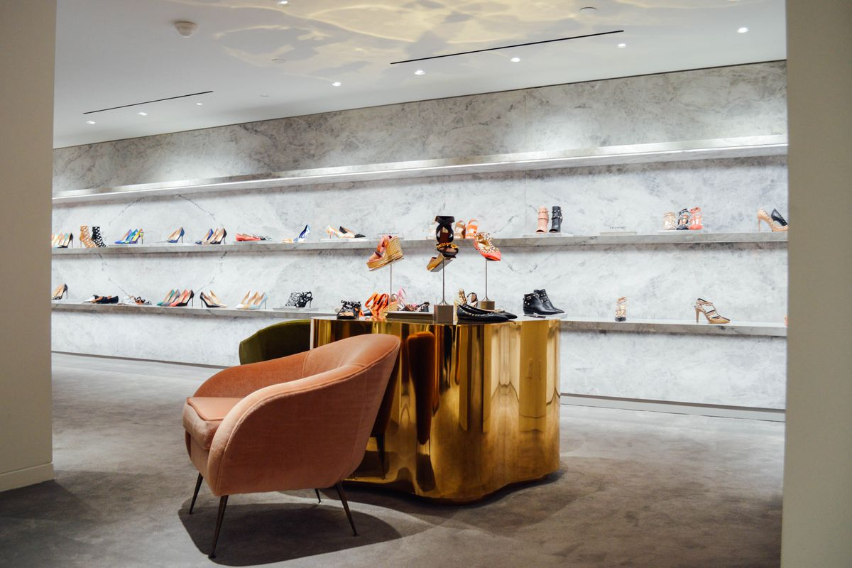 The shoe department at Barneys Chelsea