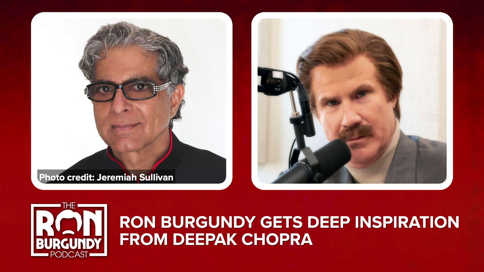 Ron Burgundy Gets Deep Inspiration From Deepak Chopra