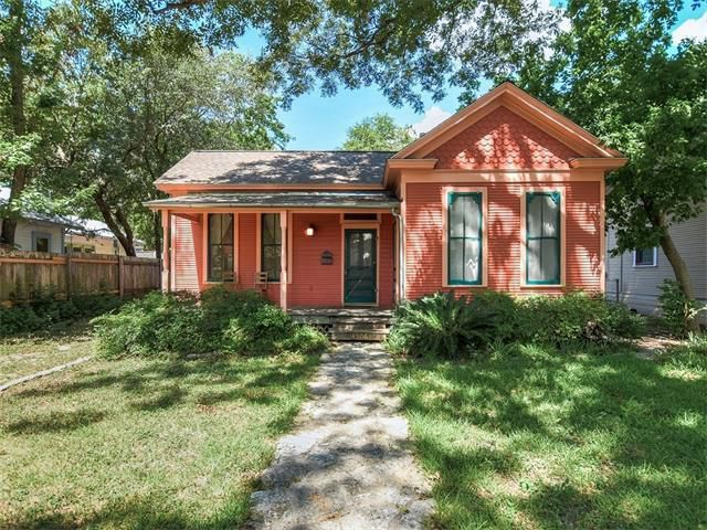1910 wooden house painted pink