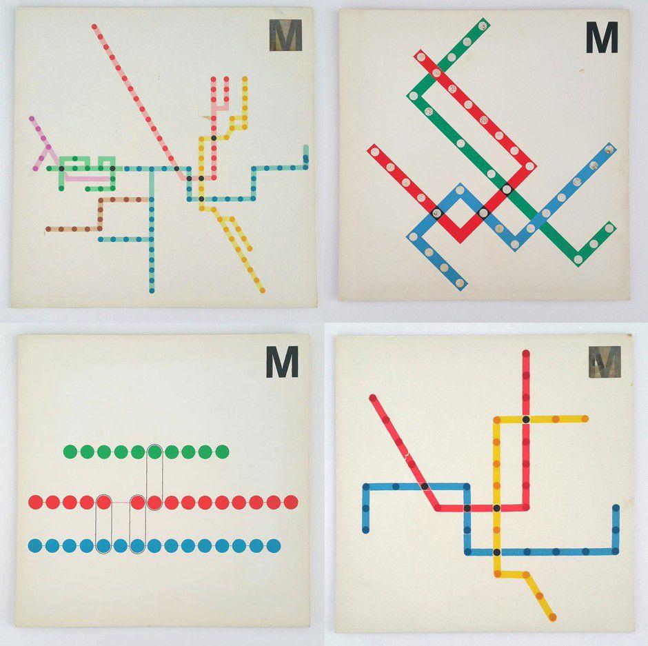 Four examples of D.C. Metro maps