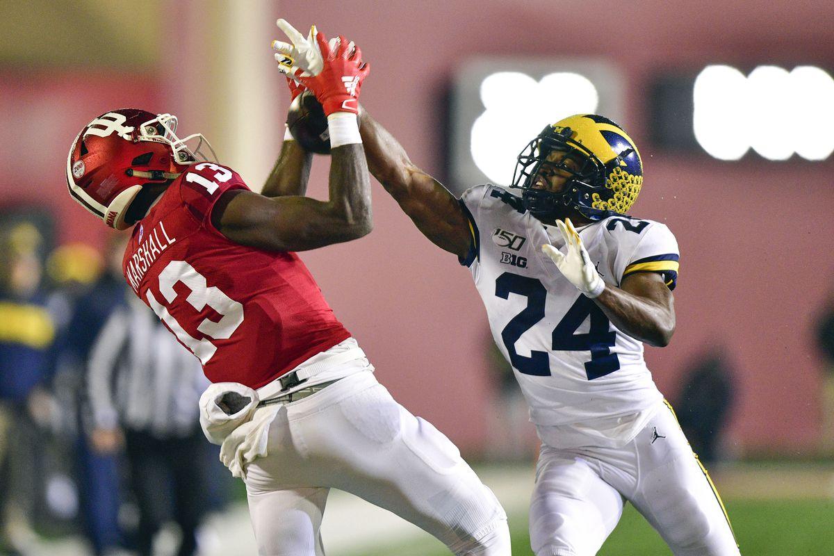 NCAA Football: Michigan at Indiana