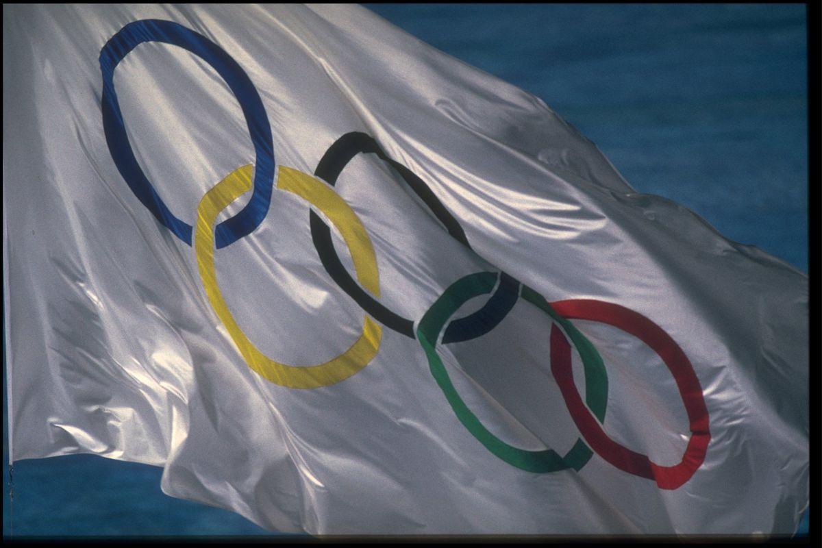 CLOSING CEREMONY OLYMPIC FLAG