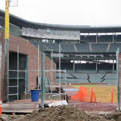 Another view of Gate Q with part of the inner bleacher wall removed