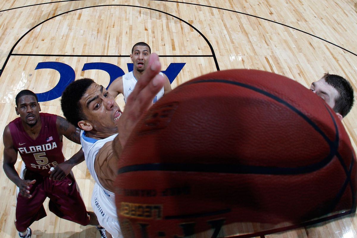 Mid-major teams will be reaching for the ball just like James Michael McAdoo. Because the ball is a metaphor for winning. It's also a ball, because they'll need that as well. To win.   Yeah, this angle is freaking me out.