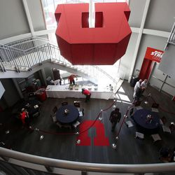 Grand opening of the new Spence and Cleone Eccles Football Center at the University of Utah in Salt Lake City on Thursday, Aug. 15, 2013.