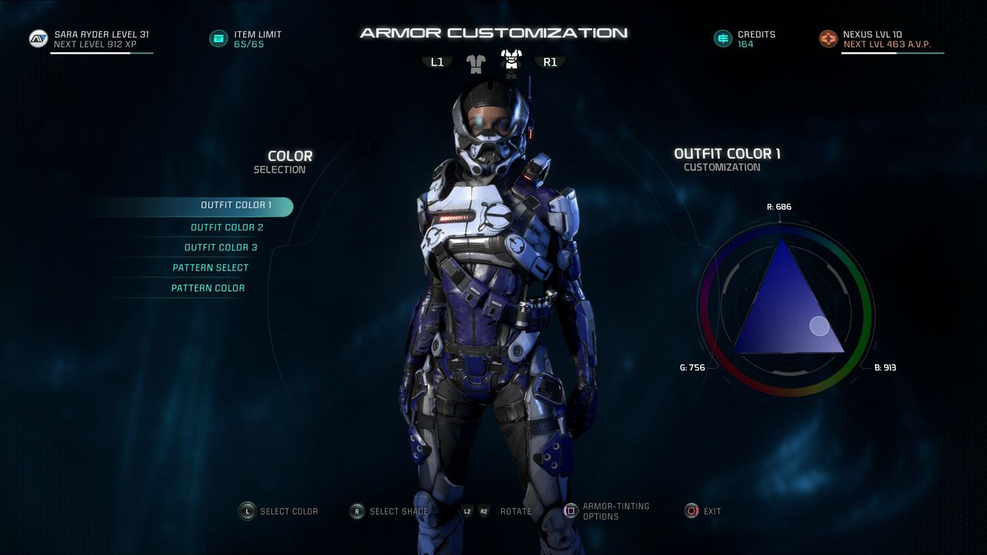 Mass Effect Andromeda Guide How To Change Your Armor Polygon