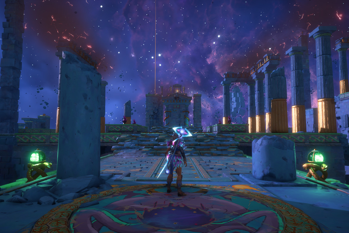 The entrance to the Defiance of Perseus Vault of Tartaros in Immortals Fenyx Rising