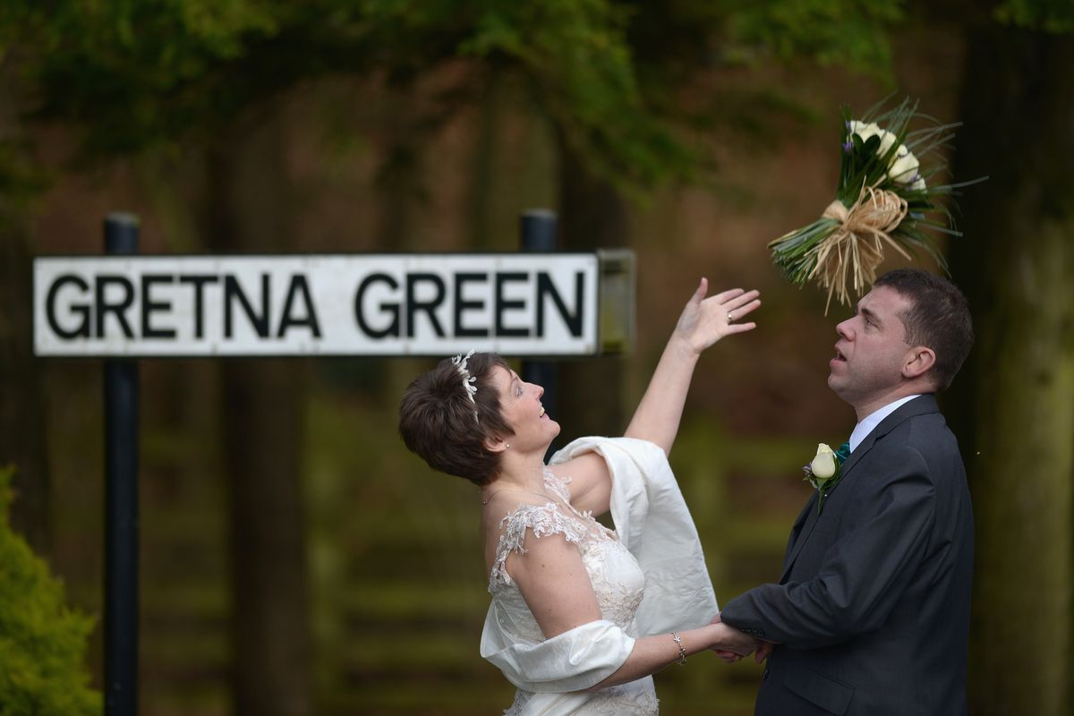Couples Get Married At Gretna Green On Valentines Day