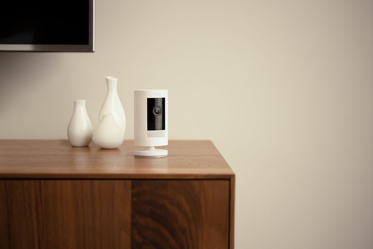 Ring's stick-up camera in a home