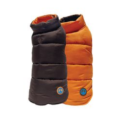 """<strong>Fab Dog</strong> Reversible Peace Sign Ski Vest, <a href=""""http://www.noevalleypet.com/poducts/for-dogs"""">price upon request</a> at Noe Valley Pet"""