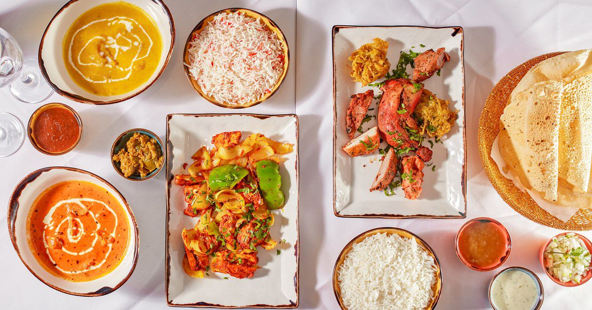 Curries at Dalchini, an Indo-Chinese restaurant in Wimbledon Village, London