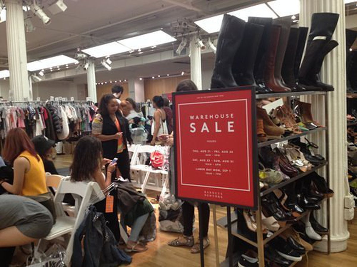 At the first day of the Barney's Warehouse Sale