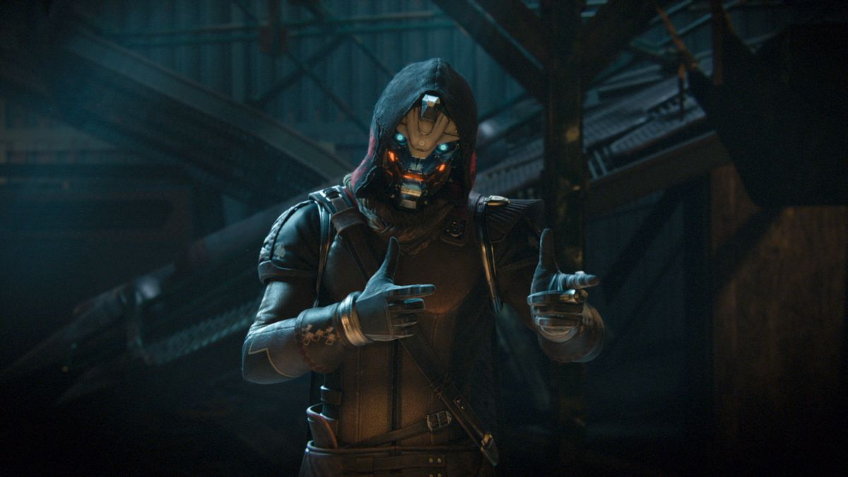 Destiny 2 - Cayde-6 giving fingerguns in a cutscene