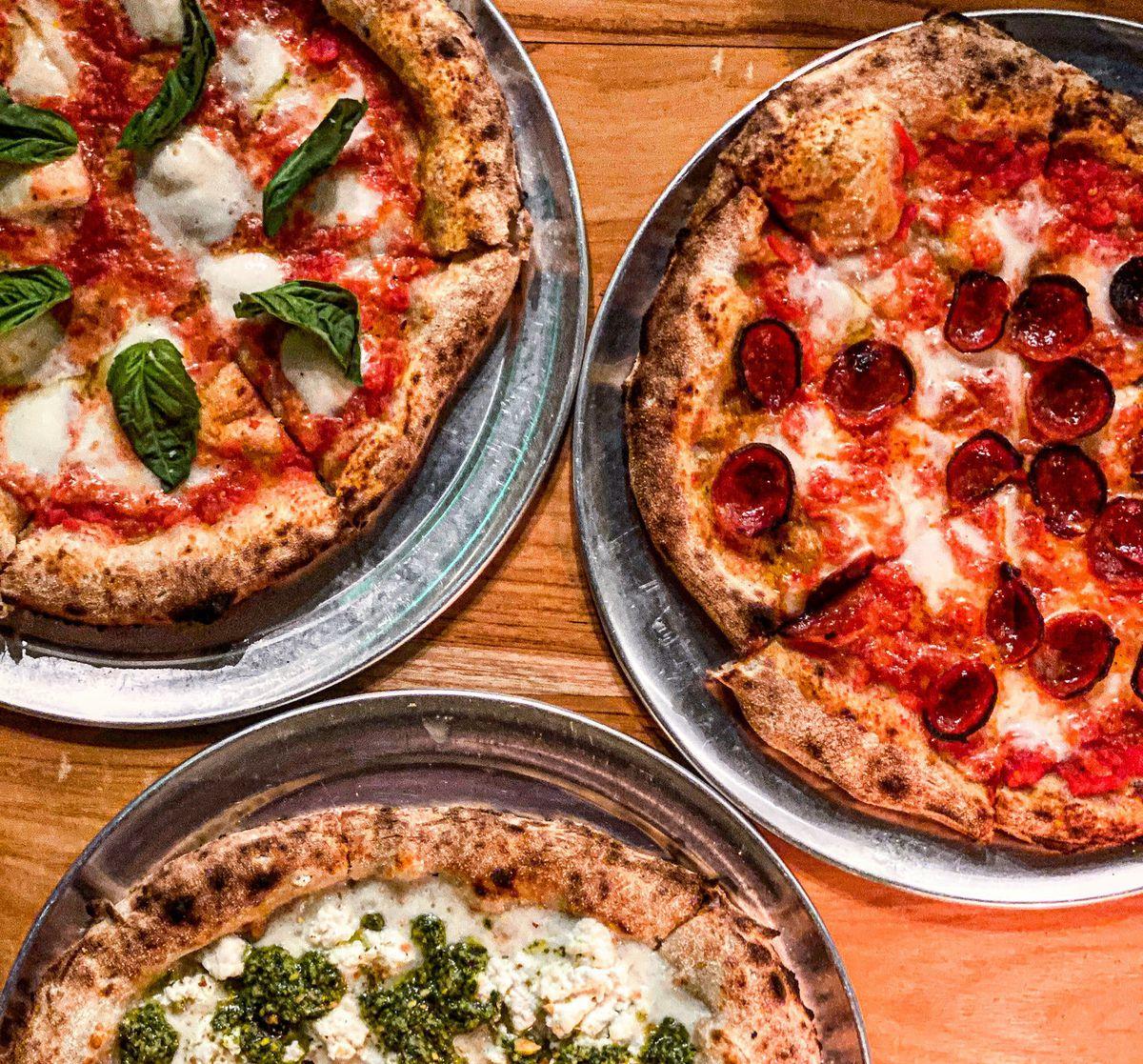 Sourdough pizza at Grá in Echo Park