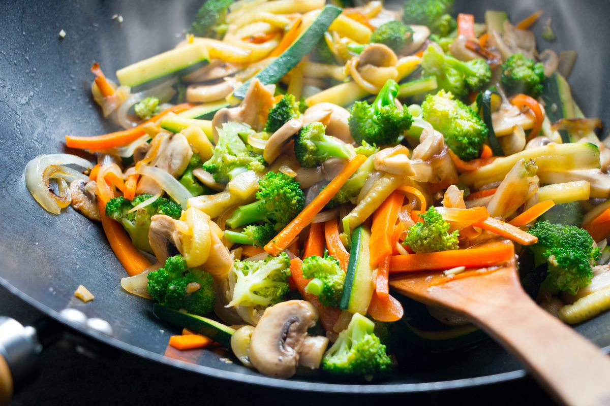 Foods like stir fry dishes, kebabs, soups, stews and tacos offer an opportunity to use a wide variety of greens and vegetables.