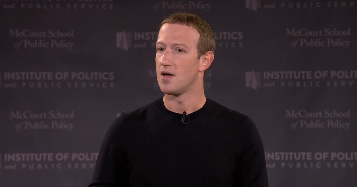 Mark Zuckerberg took on China in a speech defending free expression