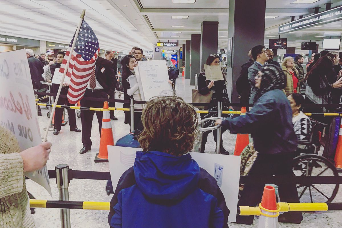 Donald Trump has built a wall  It's in Washington Dulles