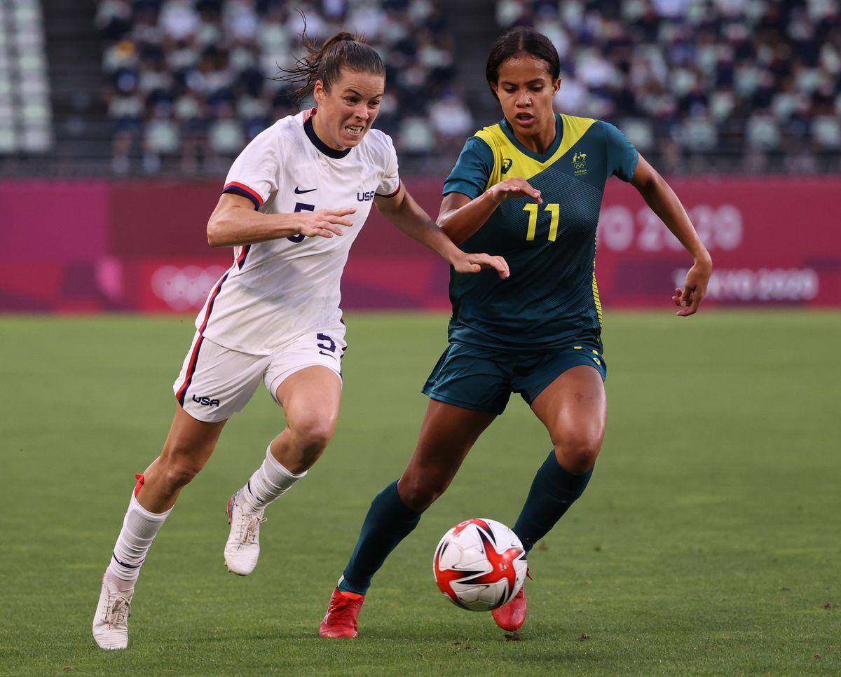 United States v Australia: Women's Football - Olympics: Day 4