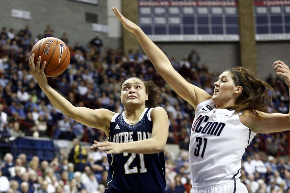 Notre Dame wing Kayla McBride and Connecticut center Stefanie Dolson are among the seven college players invited to USA Basketball's mini-camp.