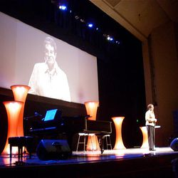 KrisBelcher: LDS author Kris Belcher, who is blind, speaks at the Time Out for Women event in Ogden in January.