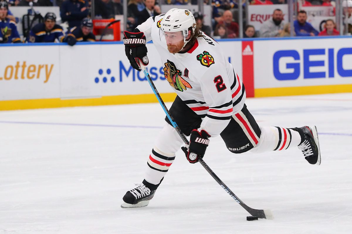 After sitting on 99 career goals since Nov. 5, Duncan Keith finally hit triple-digits Tuesday.