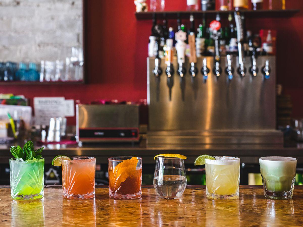 Cocktails at Saiko Sushi