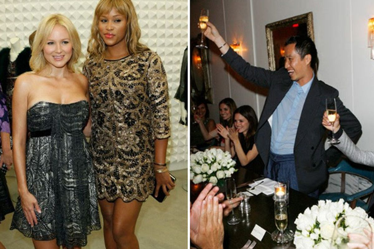 """Jewel wore Etro to Philip Lim's store birthday—scandal! Images via <a href=""""http://www.wwd.com/lifestyle-news/eye/lims-homecoming-2213669?module=today"""">WWD</a>"""