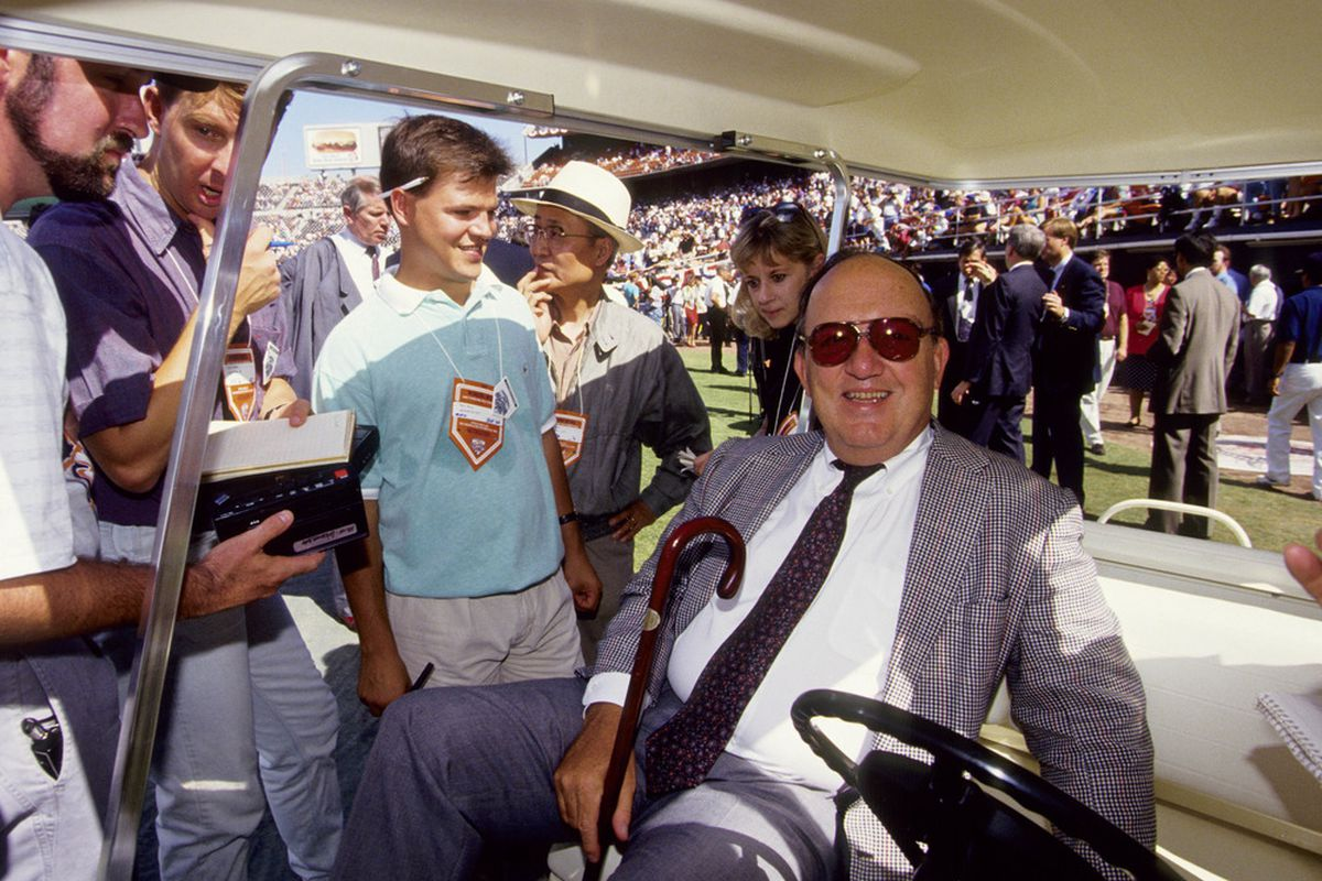 Vay Fincent, Bud Selig's predecessor and the commissioner who oversaw the T-Rights change.