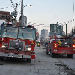 Engine 78 temporarily relocated on Waveland between Seminary and Clifton