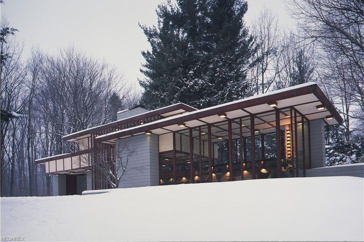Frank lloyd wright s penfield house is back on the market - Frank lloyd wright designs ...