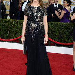 Jenna Fischer in the shade of the night, black.