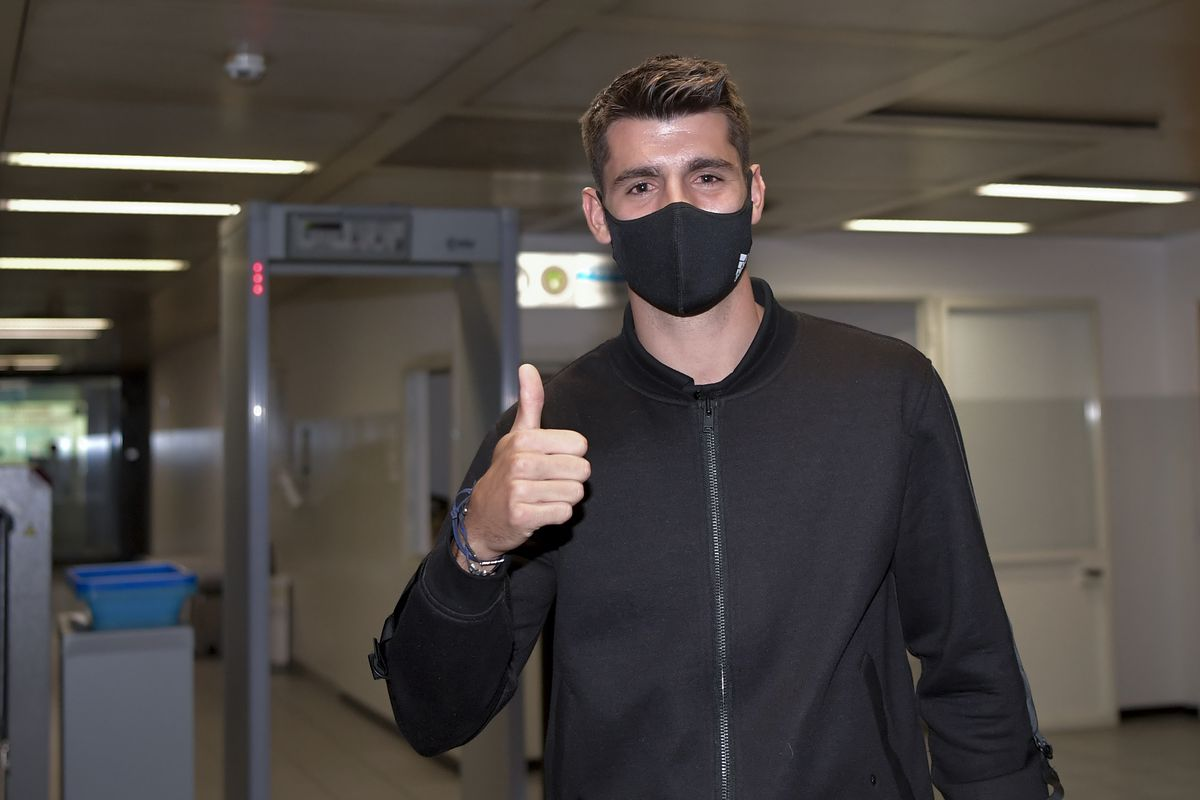 Alvaro Morata arrives for medical ahead of his return to Juventus - Black &  White & Read All Over
