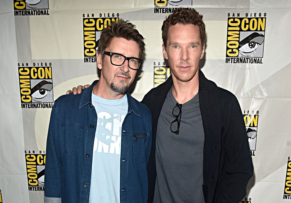 Director Scott Derrickson and Benedict Cumberbatch of Marvel Studios' 'Doctor Strange in the Multiverse of Madness' at the San Diego Comic-Con