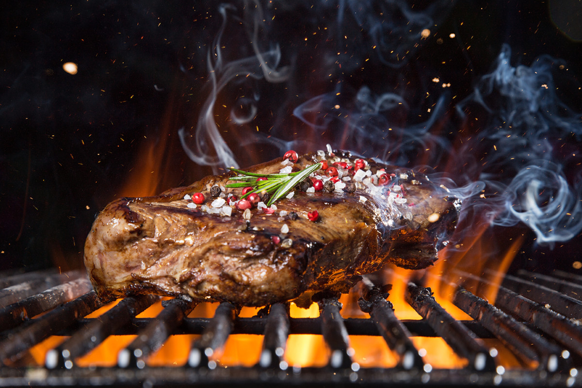 Grilled steak at the Queens Caribbean African Restaurant, coming soon to the eastside.