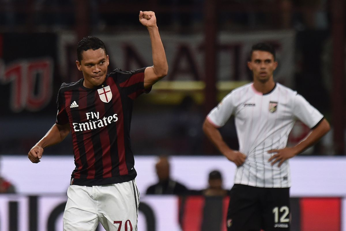 Carlos Bacca finally showed why Milan paid 25 million euros for his service, scoring twice to lead the Rossoneri to a 3-2 win over Palermo Saturday night.