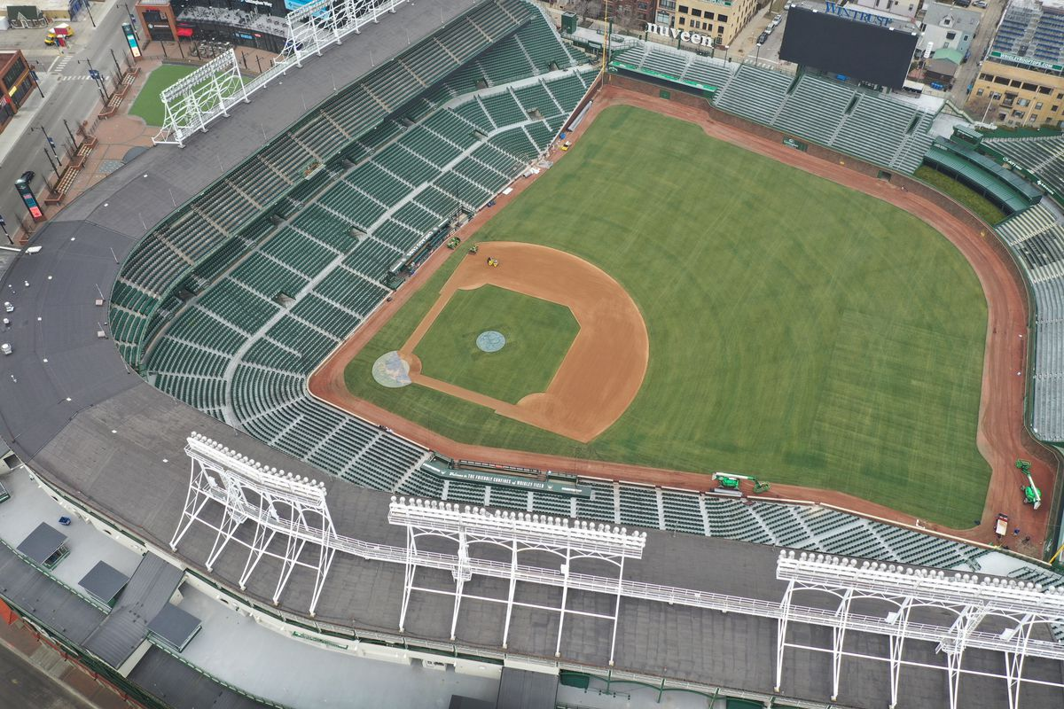 Wrigley Field was empty on what would have been Major League Baseball's opening day in March.