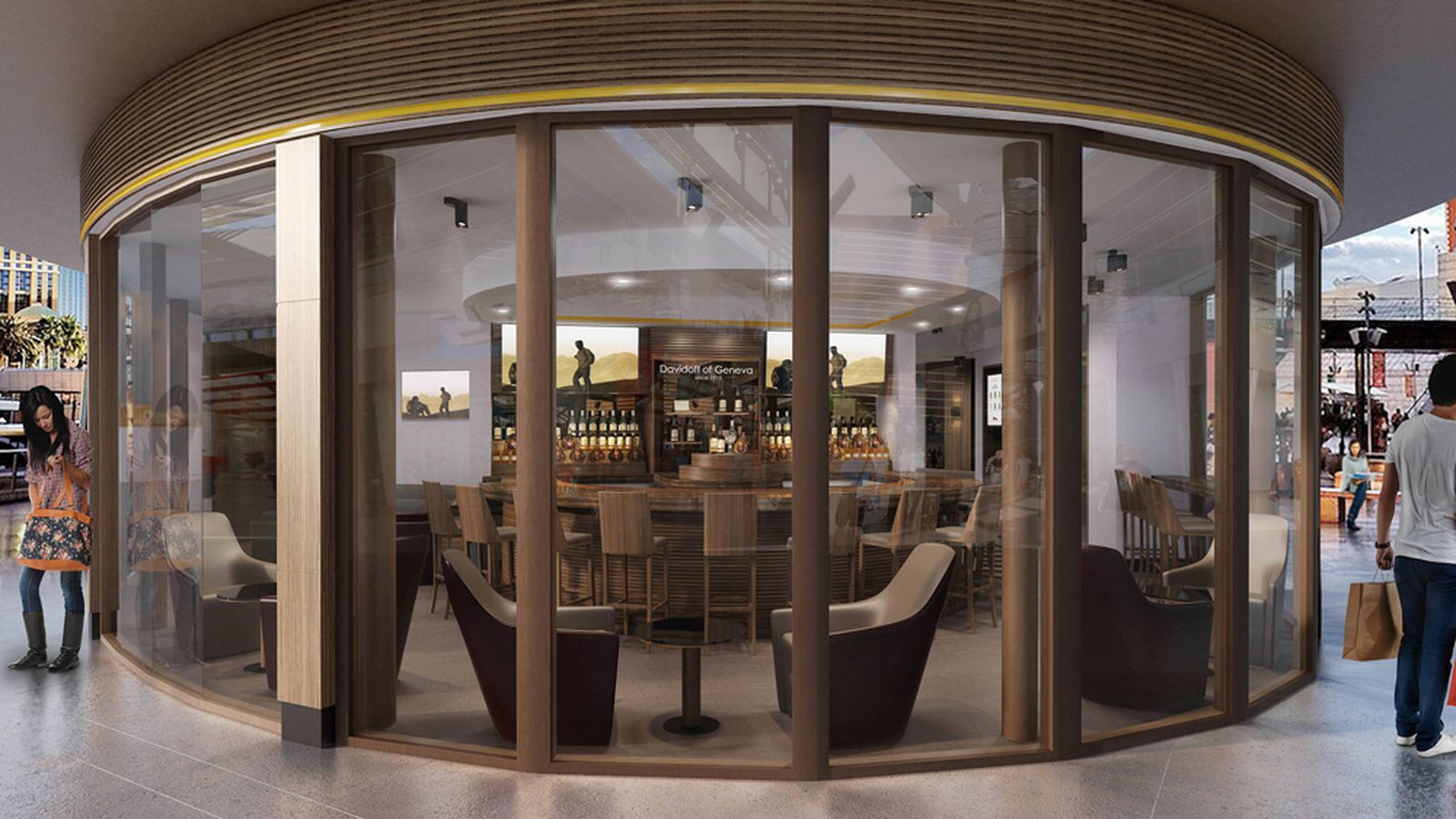 Behold the $1 Million Plan for Fashion Show Mall's Davidoff Cigar Bar