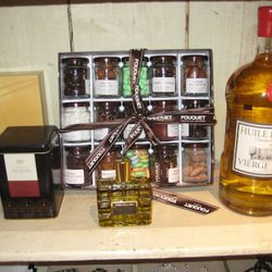 Angelina hot chocolate, $35<br />Chateau d'estoubion oil, $35<br />